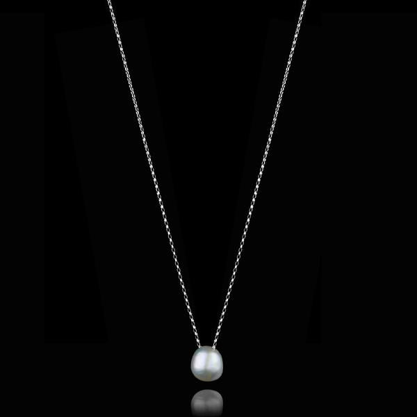 Silver Moonlight Pearl Necklace
