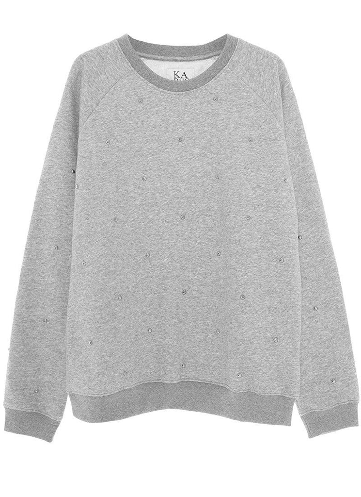 Studs all over Sweatshirt in Grey Heather