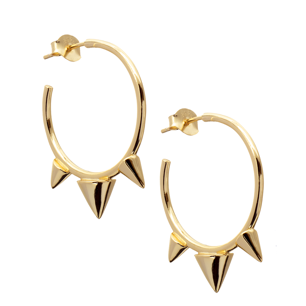 Large Spike Hoop Earrings