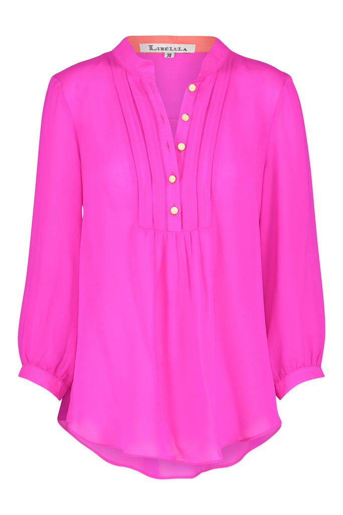 Delphine Top in Hot Pink
