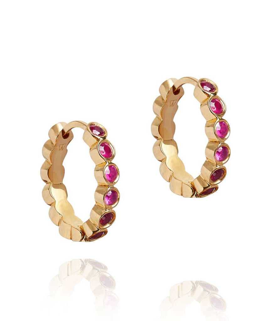 Ruby Health Hoop Earrings