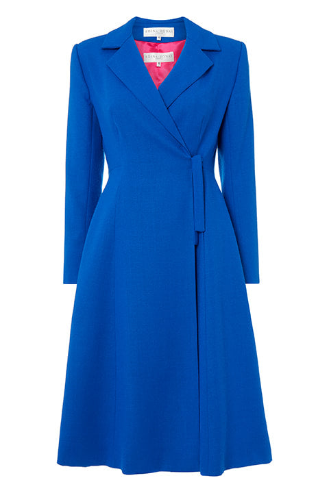50's Coat in Cobalt Blue