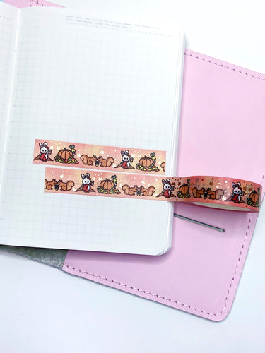 Washi Tape- Autumn Vibes - Rose gold foil- LOW STOCK