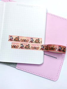 Washi Tape- Autumn Vibes - Rose gold foil- VERY LOW STOCK