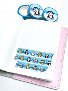 Capsule Collection - Winter Critters washi tape - LOW STOCk