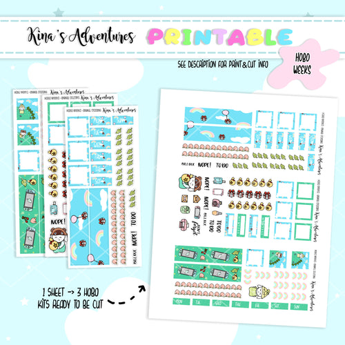 Printable - Hobonichi Weeks Kit - Animal Crossing