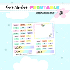 Printable- Hobonichi Weeks- Annual