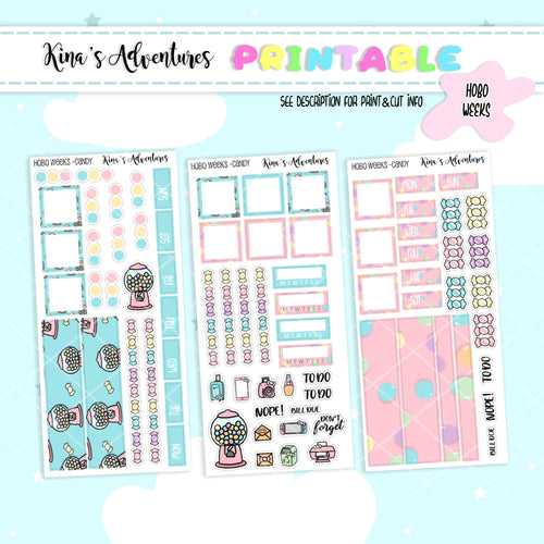 Printable - Hobonichi Weeks- Candy