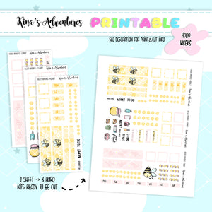 Printable - Hobonichi weeks - Honey