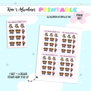 Printable- Animal crossing characters III