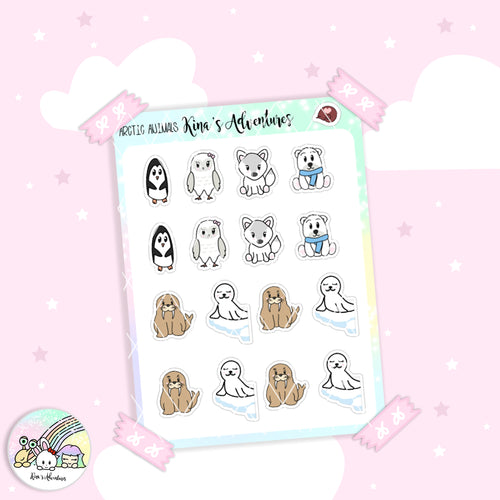 Sticker Sheet - Arctic animals