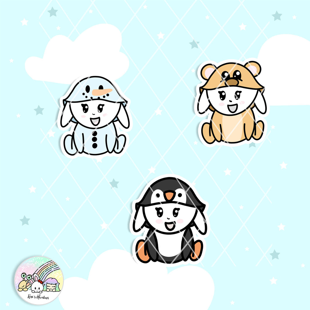 Capsule Collection- Winter Critters - Due cuts set