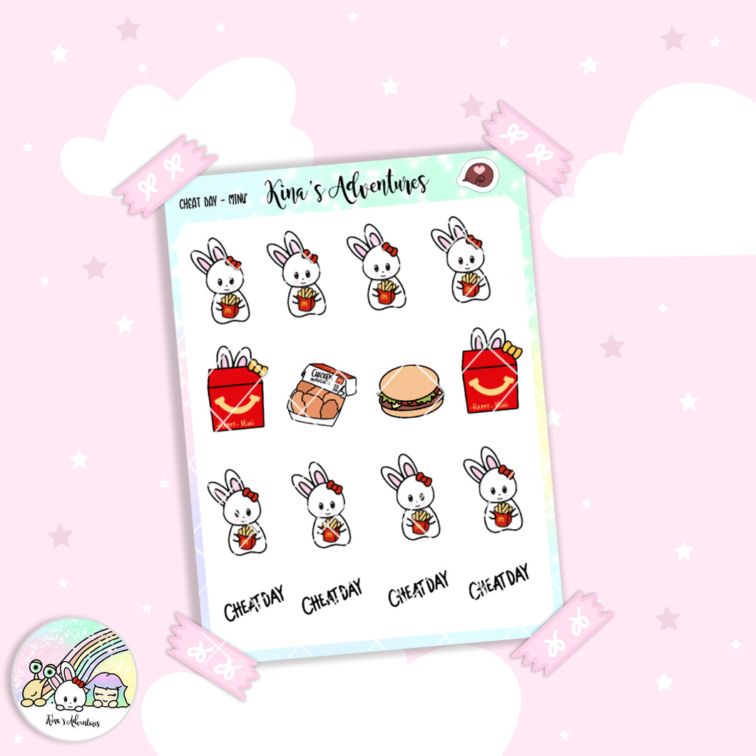Stickers Sheet - Minu' - Cheat day