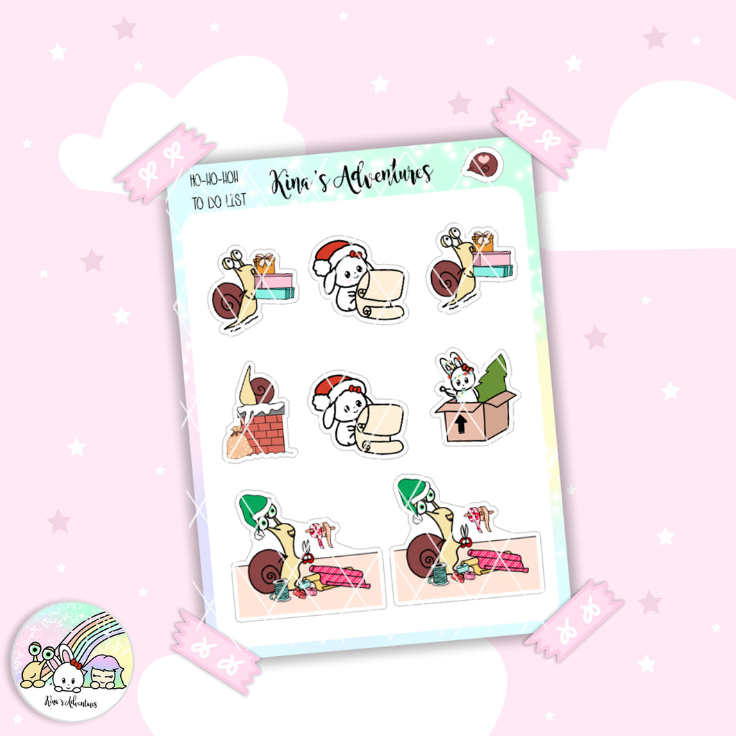 Christmas - Stickers Sheet - To do list