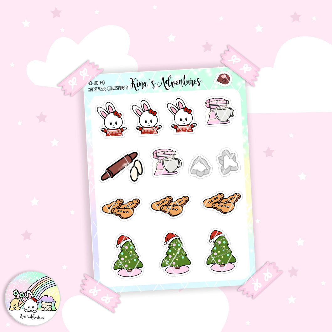 Christmas - Stickers Sheet- Christmas Atmosphere