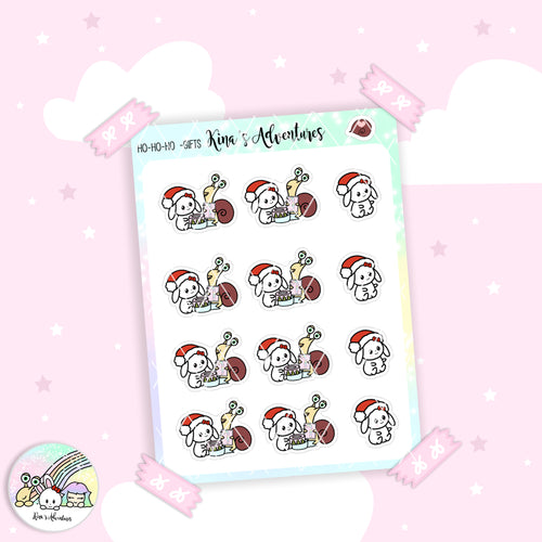 Christmas- Stickers Sheet - Gifts