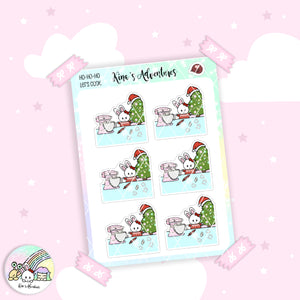 Christmas - Stickers Sheet-  Minu' - Let's cook