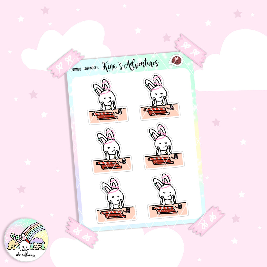 Christmas- Stickers Sheet - Wrapping gifts