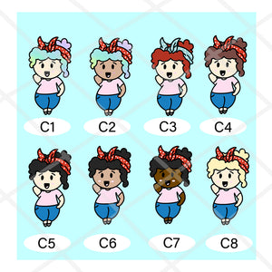 Stickers Sheet - Curvy Girl- Vacuum