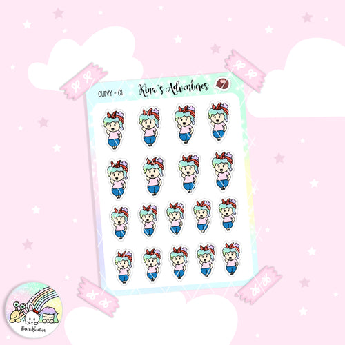 Stickers Sheet - Curvy Girl