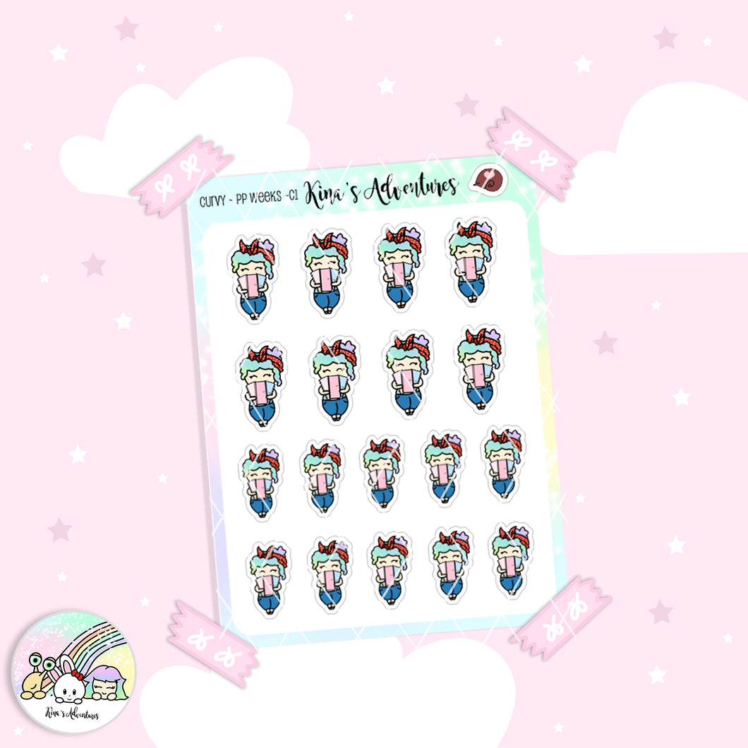 Stickers Sheet - Curvy - PP weeks