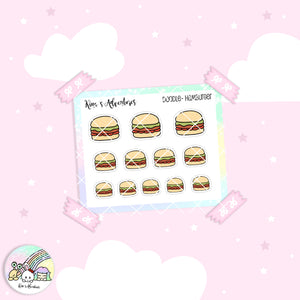 Doodles - Mini stickers sheet - Hamburger