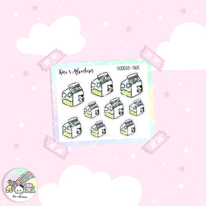 Doodles- Mini stickers sheet - Milk