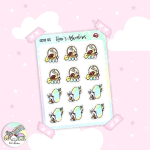 Stickers Sheet - Easter Eggs