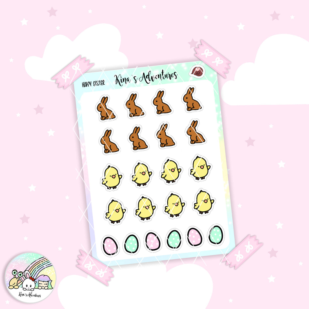 Stickers Sheet - Happy Easter