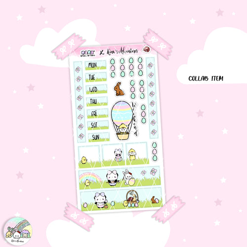 Hobonichi weeks- Happy Easter - Collab with Nanastickystickers