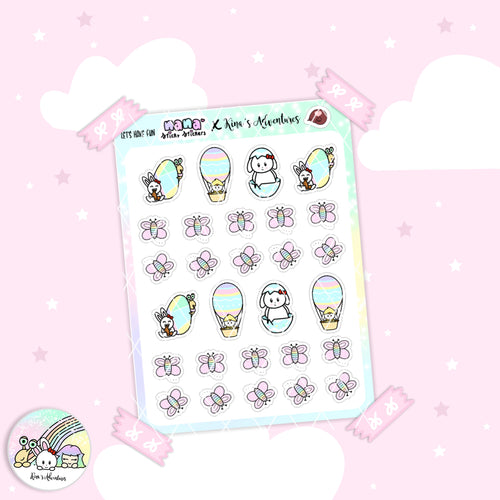 Stickers Sheet- Easter- Let's have fun - Collab + Nanastickystickers