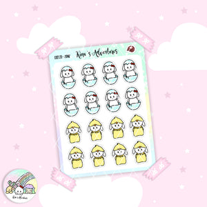 Stickers Sheet - Easter Minu'