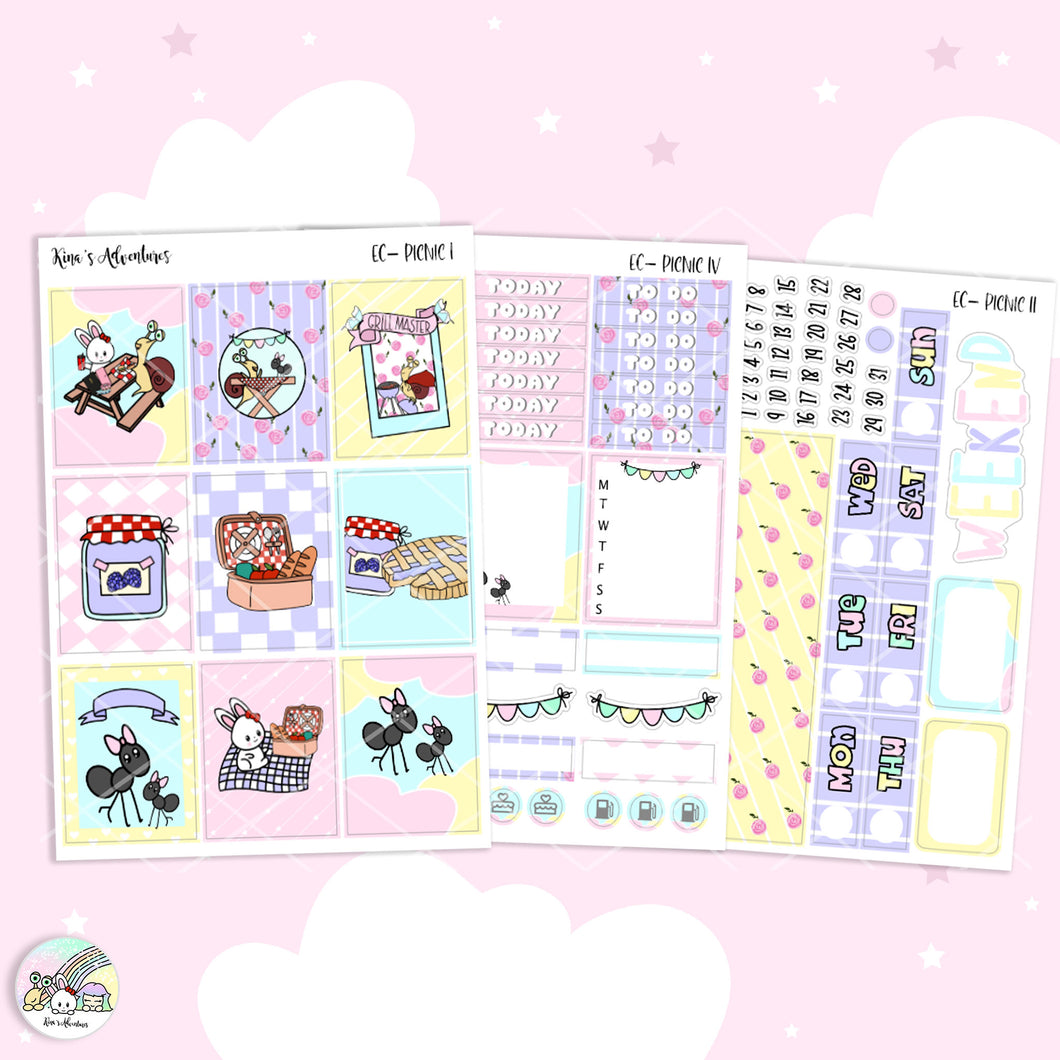 Stickers Kit- Standard Vertical kit - Pastel pic nic