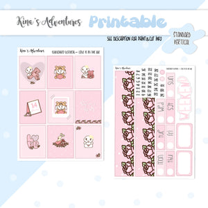 Printable- Love is in the air - Standard Vertical kit