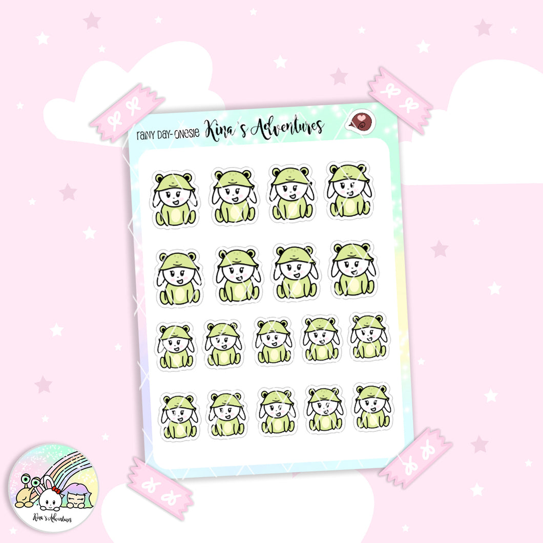 Stickers Sheet - Minu' - Frog Onesie