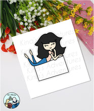 Load image into Gallery viewer, Die Cut - Girl Doodle- Name Tag