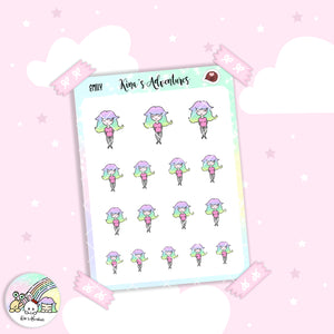 Stickers Sheet- Girls Doodle