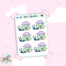 Load image into Gallery viewer, Stickers Sheet - Relax - Girls Doodle