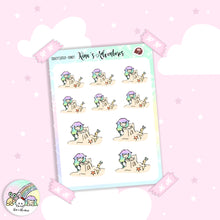 Load image into Gallery viewer, Sticker Sheet - Girl Doodle- Sandcastle
