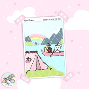 Hobonichi A6 techo - Camping - Full page