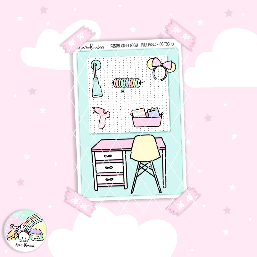 Hobonichi a6 techo - Pastel Craft Room - Full page
