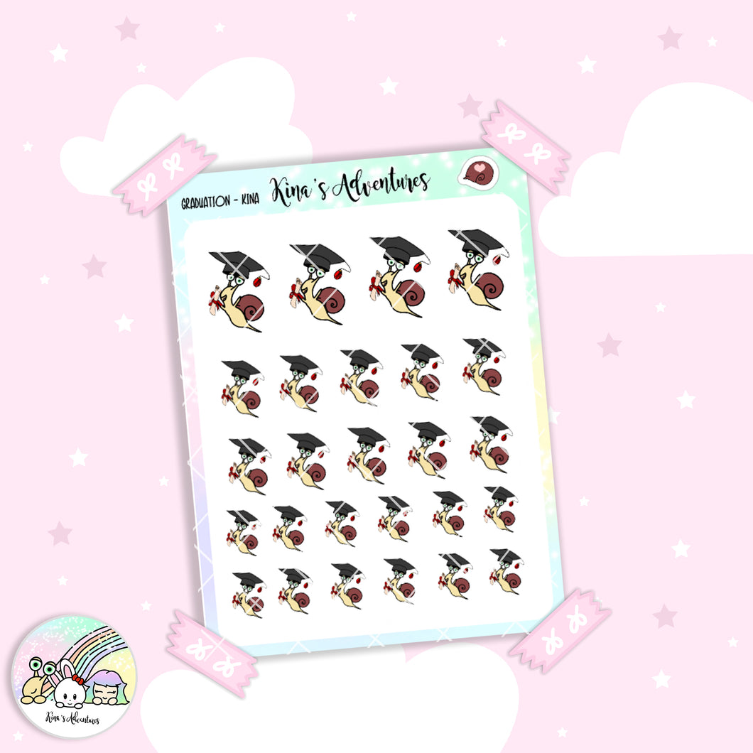 Stickers Sheet/Kina- graduation