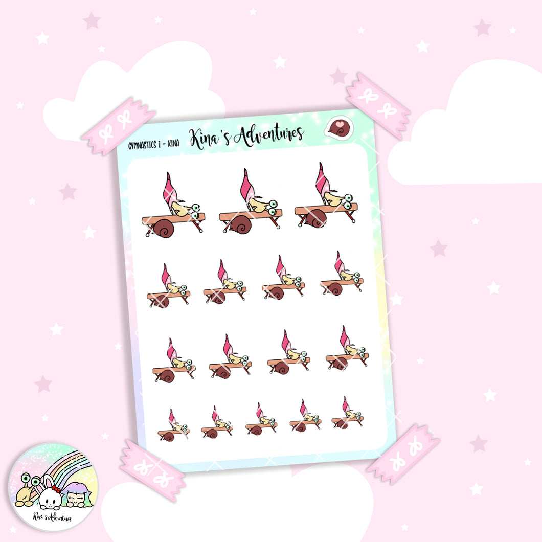 Stickers Sheet - Kina -Gymnastics 1 - SPORT