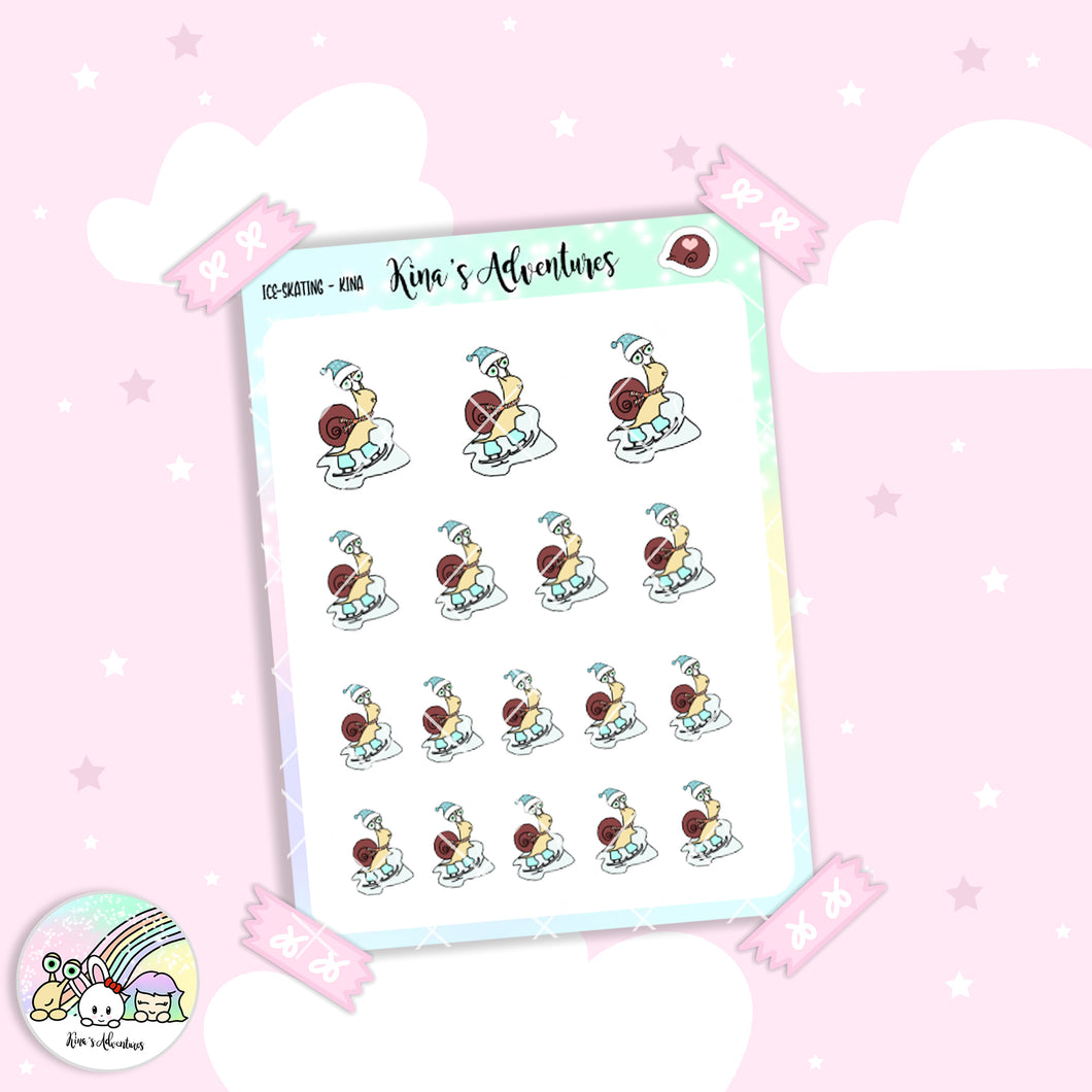 Stickers Sheet- Kina- Ice Skating