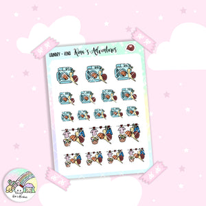 Stickers Sheet/Kina- laundry