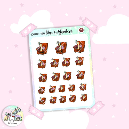 Stickers Sheet - Kina - Mom life 2
