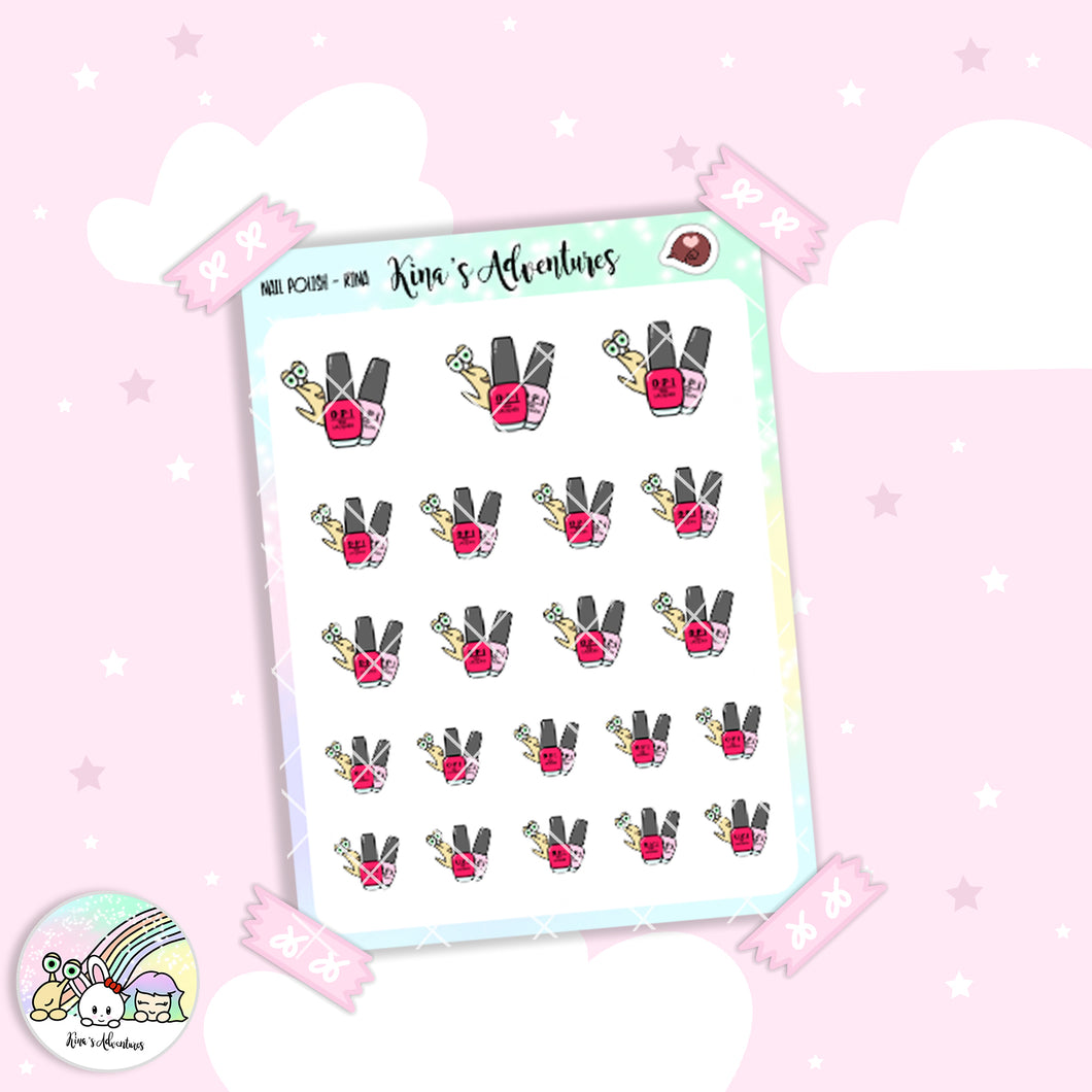 Stickers Sheet/Kina- nail polish