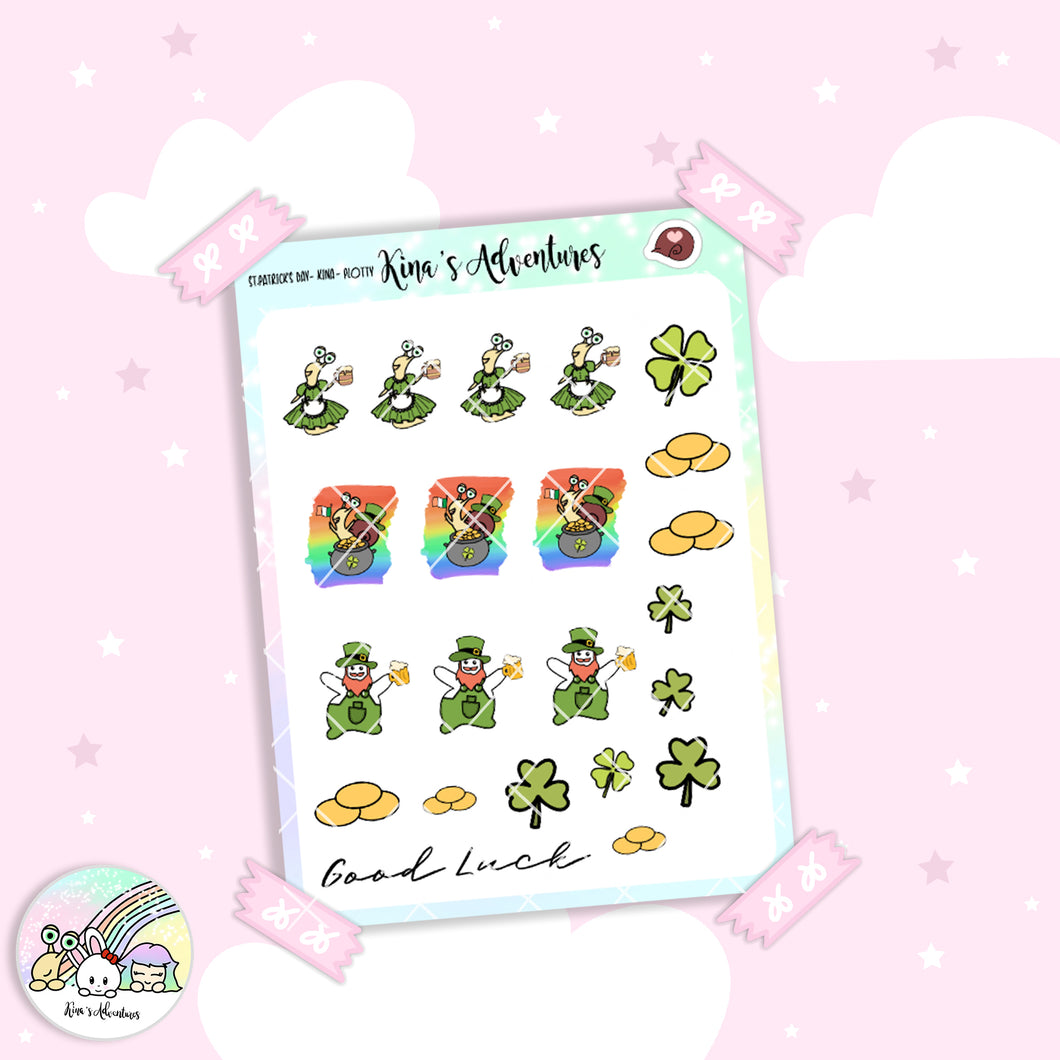 Stickers Sheet- Kina + Plotty - St.Patrick's Day - LIMITED EDITION