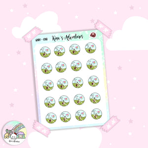 Stickers Sheet / Kina- windy