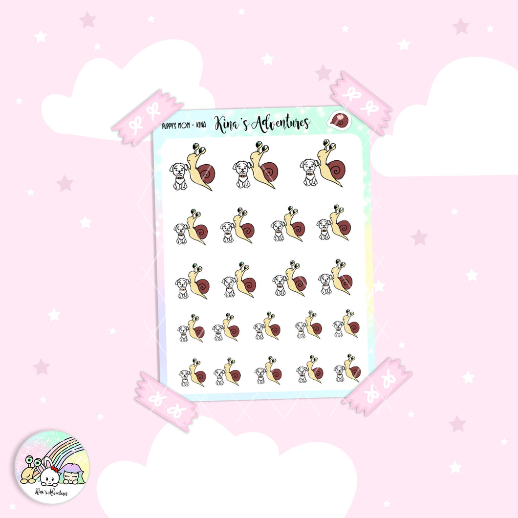 Stickers Sheet- Kina - Puppy's mom